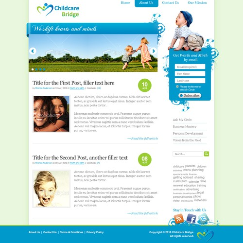 wordpress for childcare web tools & community