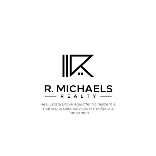 Simple and iconic logo design for R. Michaels Realty