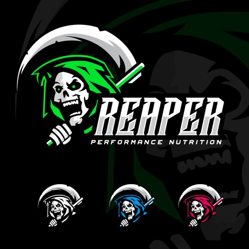 Grim Reaper Design for a Nutrition Company