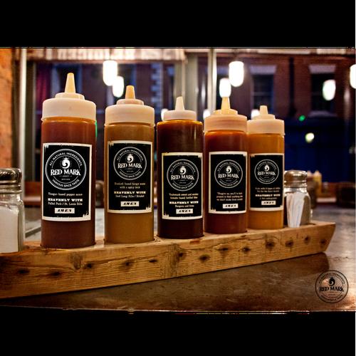 Logo for Red Mark sauce