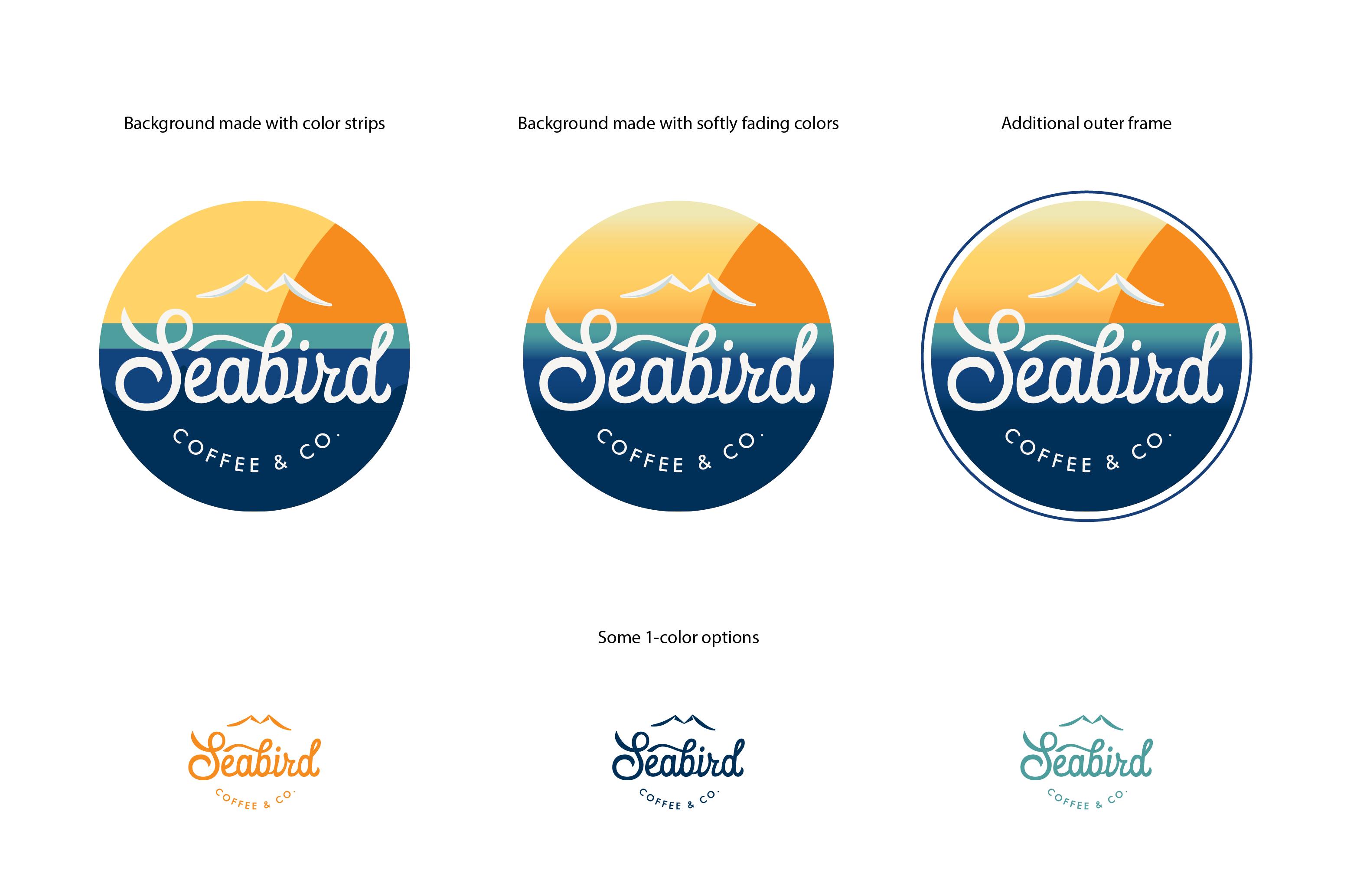 Design a California meets New England logo for Seabird Coffee