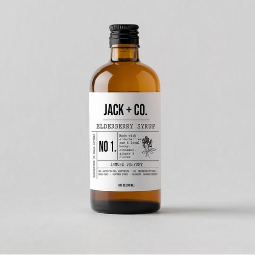 Syrup bottle design