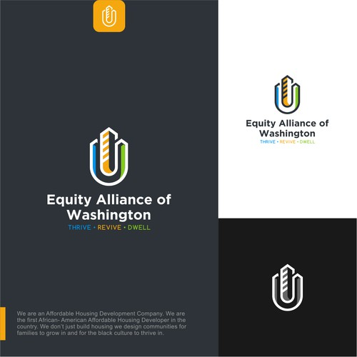 Unique Real Estate Logo design