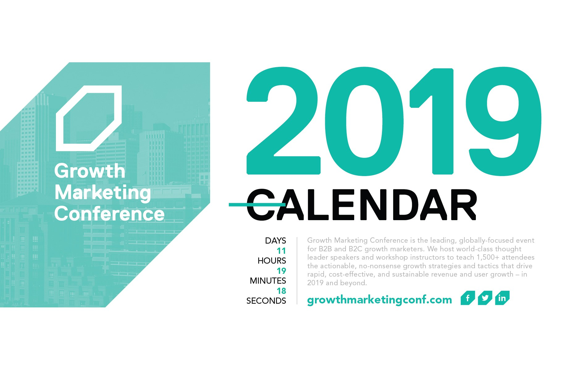 Growth Marketing Conference Custom Event Calendar