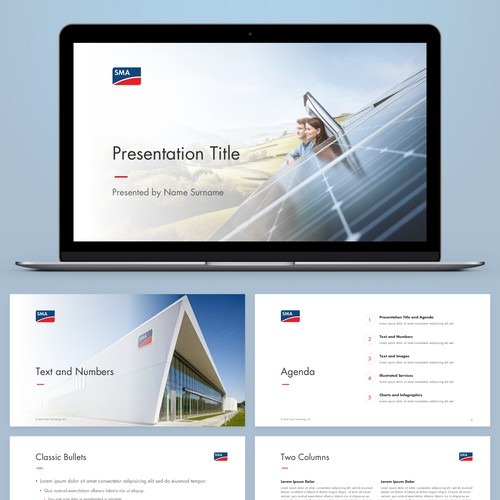 Solar Technology Company Presentation Template