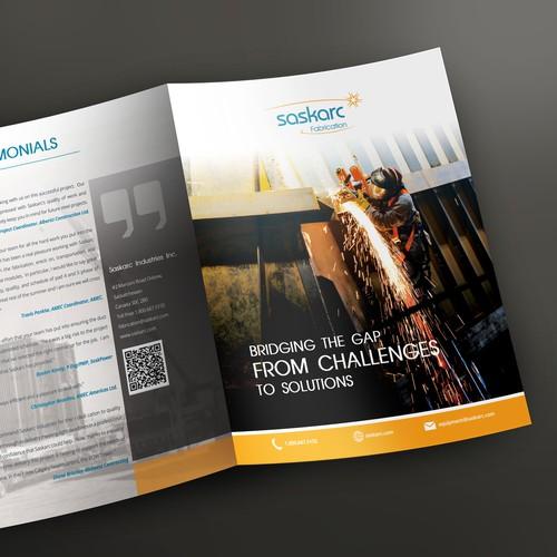 Brochure design for Saskars industry
