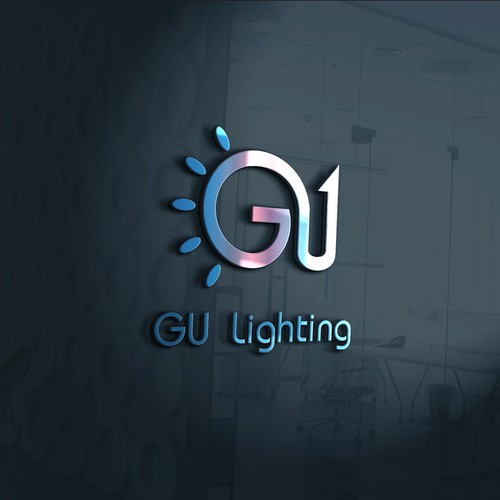 Simple logo concept for GU Lighting