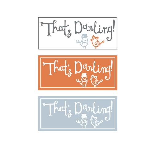 Hand lettered children's clothing shop logo