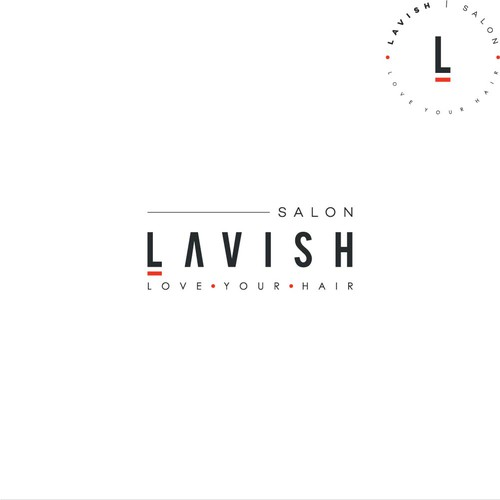 Minimalist logo design for Lavish Hair Salon