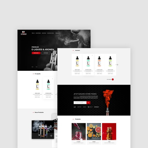 Webdesign Concept for a Vape Shop