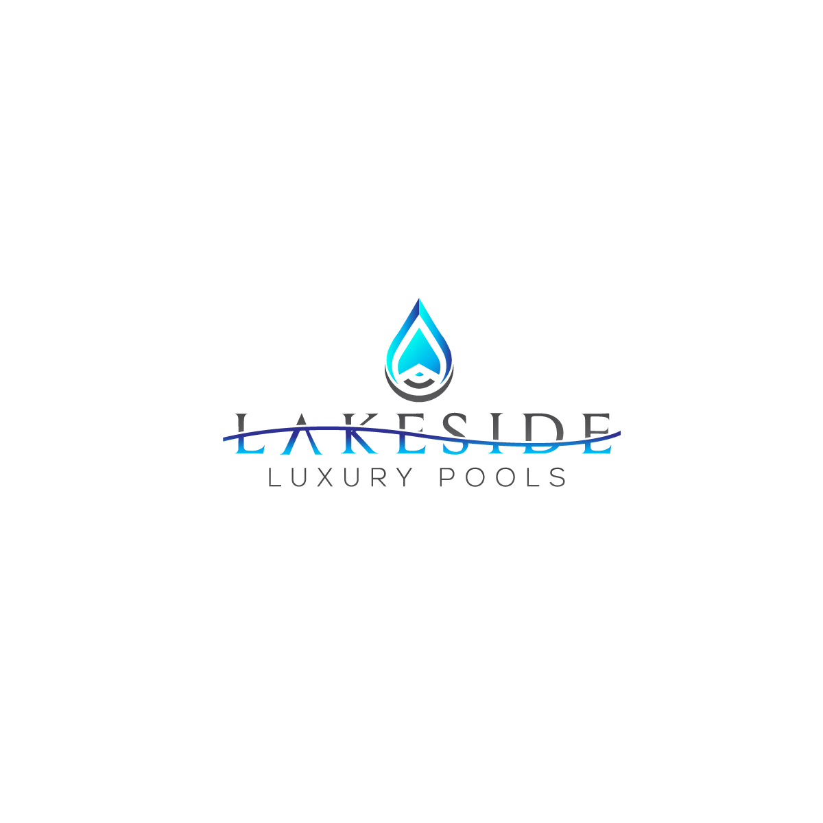 We need a high end elegant design for a luxury swimming pool building company