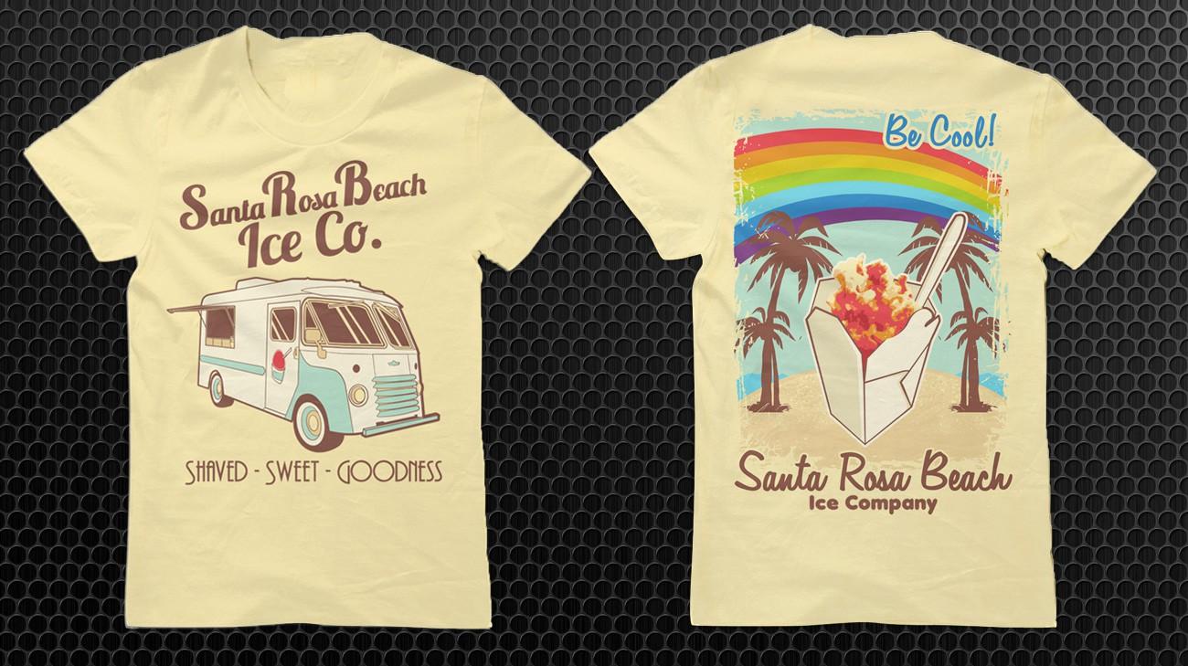 Create the next t-shirt design for Santa Rosa Beach Ice Company