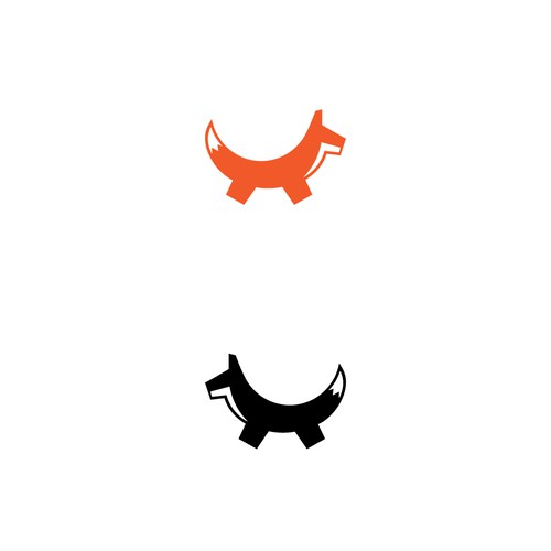 Minimalist logo concept for a Fox