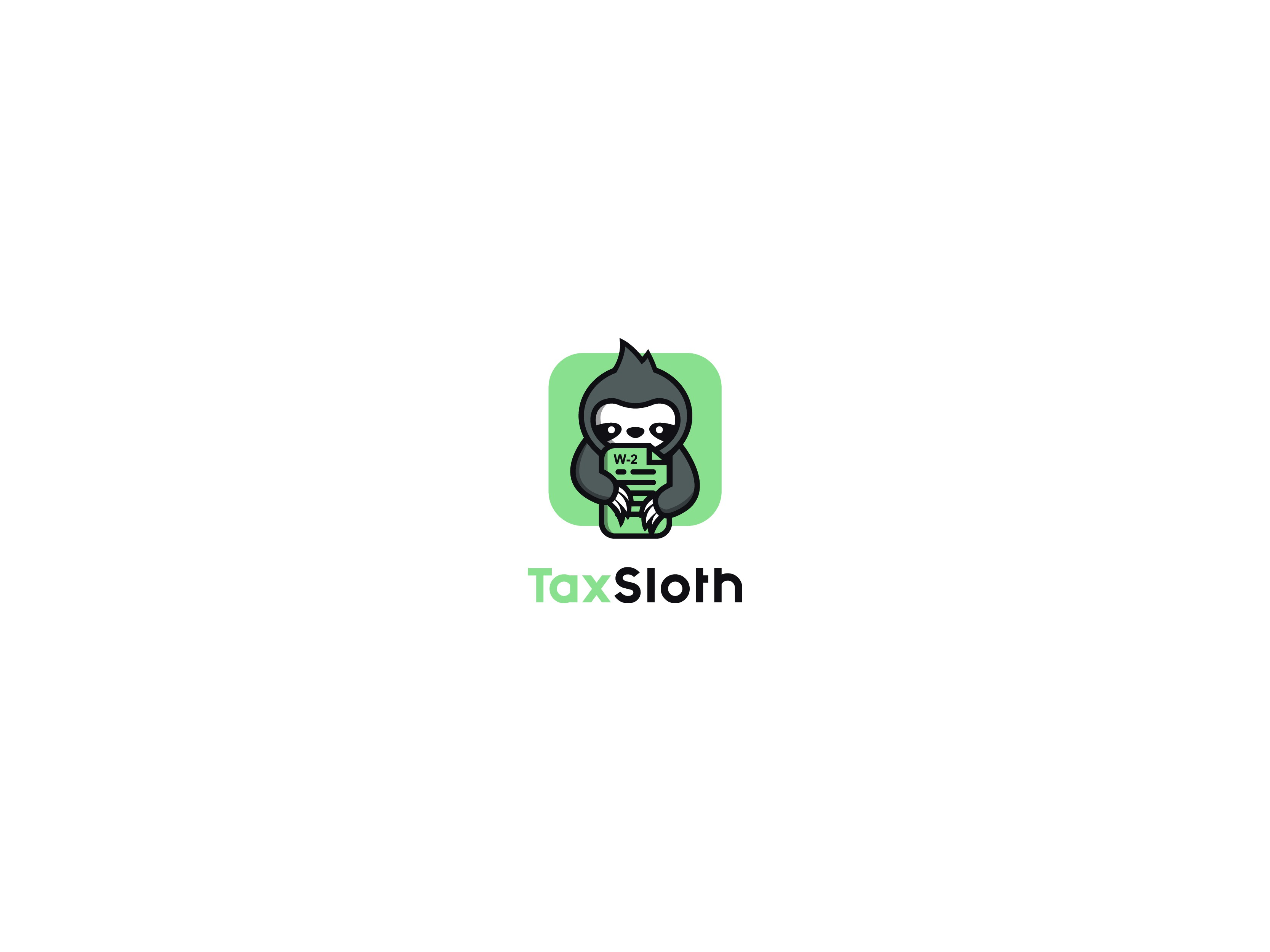 Create a sloth illustration for my online taxes business