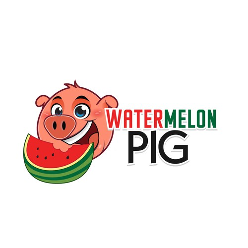 Watermelon Pig Logo