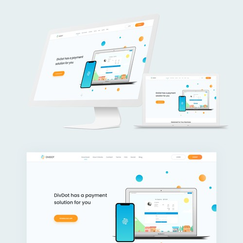 Payment App Landing Page Design