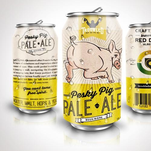 Pesky Pig Ale - Label