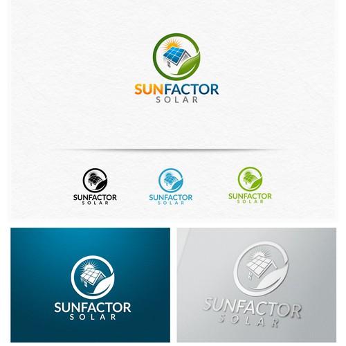 Create the next logo for SunFactor Solar