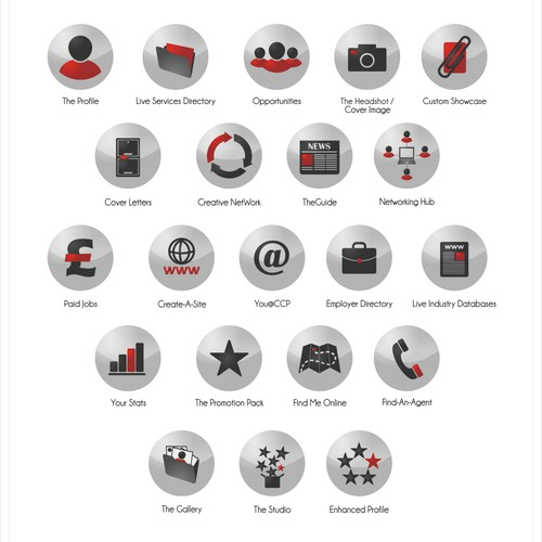 Multiple icons design