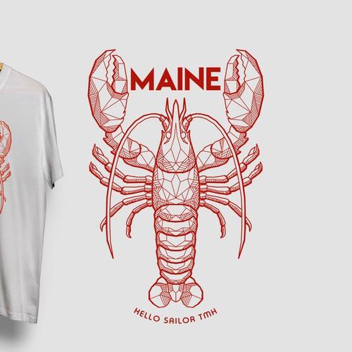 T-shirt design for Maine