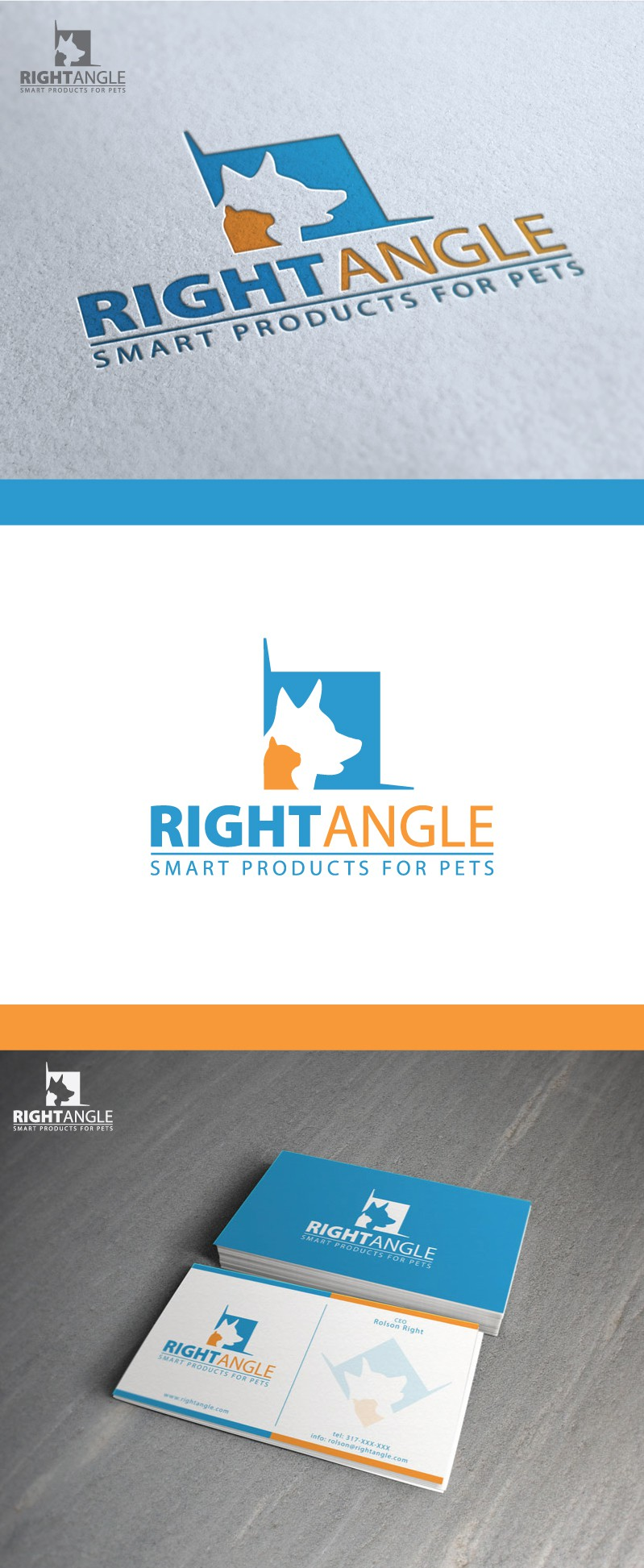 Right Angle Distribution needs a logo & business card