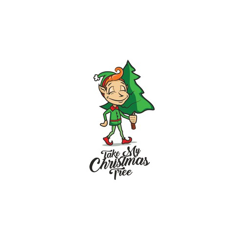 """Take My Christmas Tree"" logo"