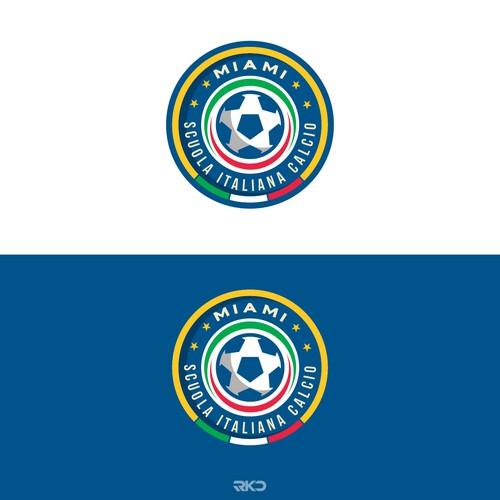 logo concept for scuola italiana calcio