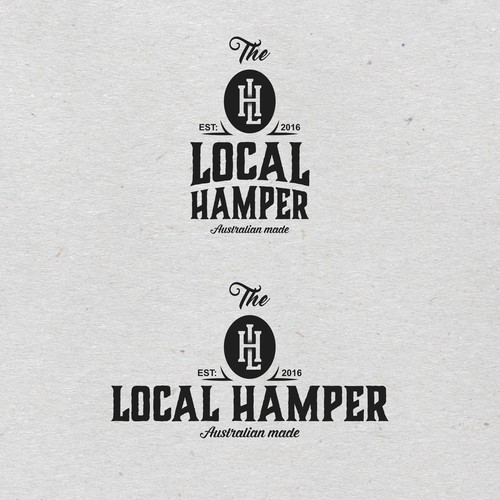 Rustic themed logo for hamper company