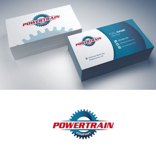 Powertrain Logo and Bcard