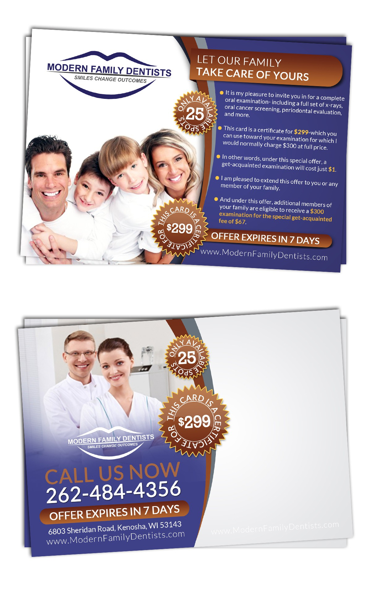 New postcard or flyer wanted for Modern Family Dentists