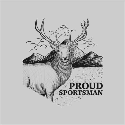 Create a flagship Proud Sportsman T-shirt Design!