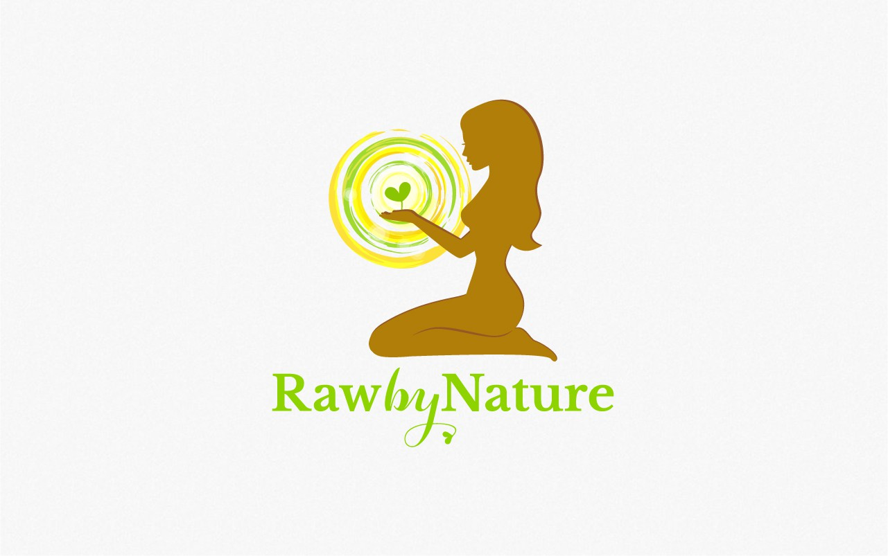 Create a logo that illustrates vibrant green life force and love to mother earth