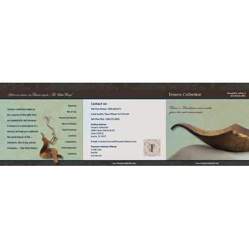 $500 Elegant Brochure for Fine Gifts Web Site