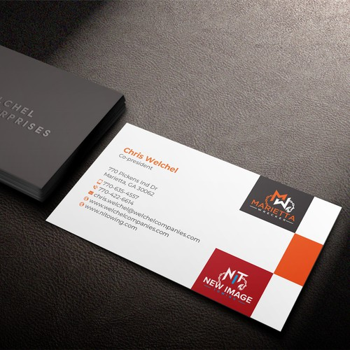 Multiple Logo Business Card Design