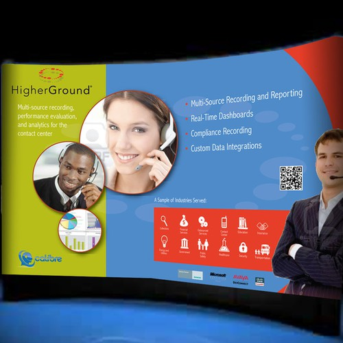 *guaranteed* brochure and 10' Pop-up Booth design for HigherGround, Inc.