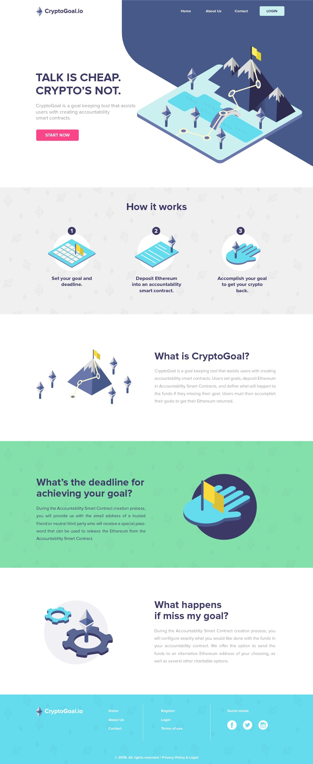 CryptoGoal.io - Modern Website Needed!