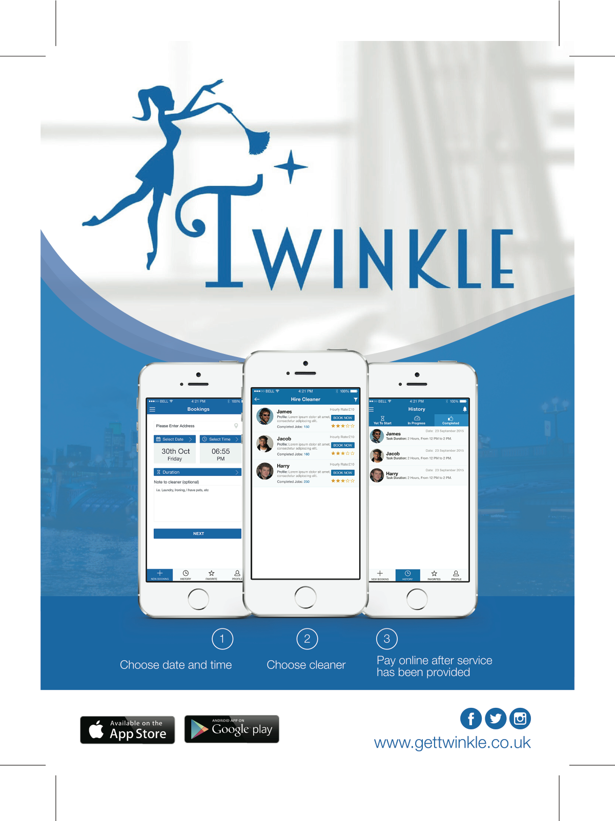 Twinkle Cleaners Flyer