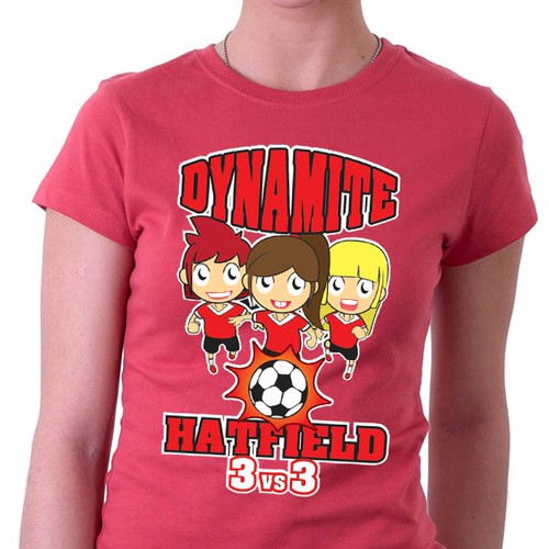 Female Soccer Tournament T-Shirt Design
