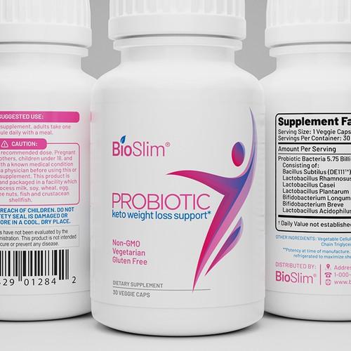 BioSlim probiotics label