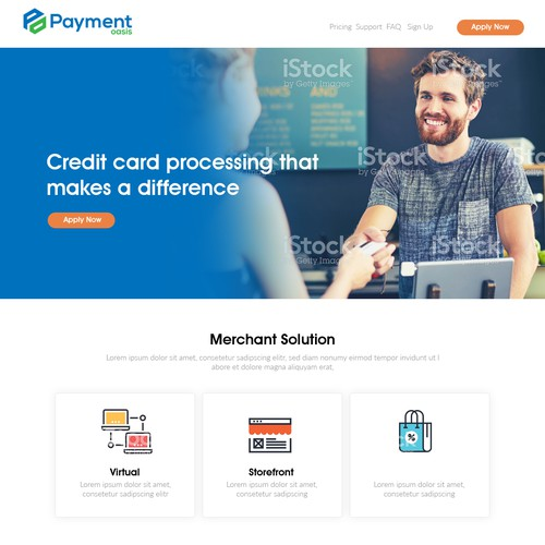 Credit Card processing website