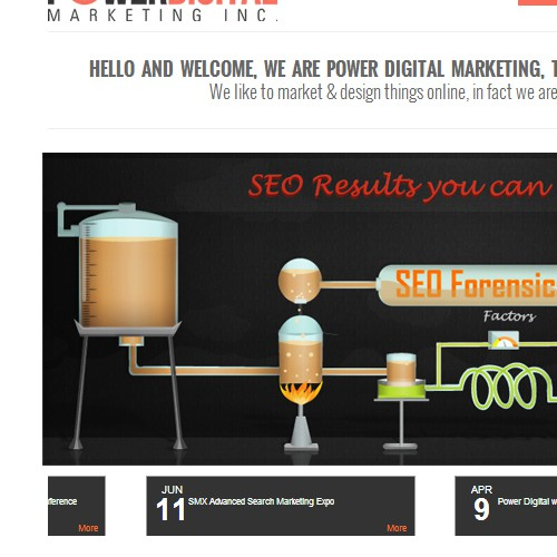 Create the next banner ad for Power Digital Marketing Inc.