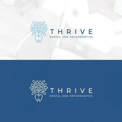 Minimal design for Thrive Dental