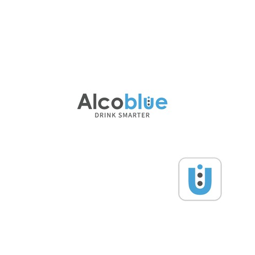 Moderniser le logo d'Alcoblue, l'éthylotest électronique connecté