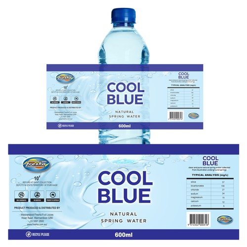 Cool Blue Natural Spring Water