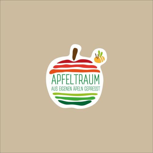 Logo/ Aufkleber - Apfeltraum Saft