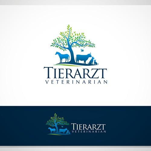 Tierarzt Veterinarian Logo