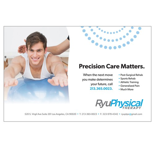 Ad design for physical therapist