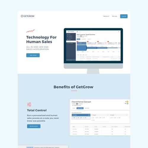 Homepage for GetGrow