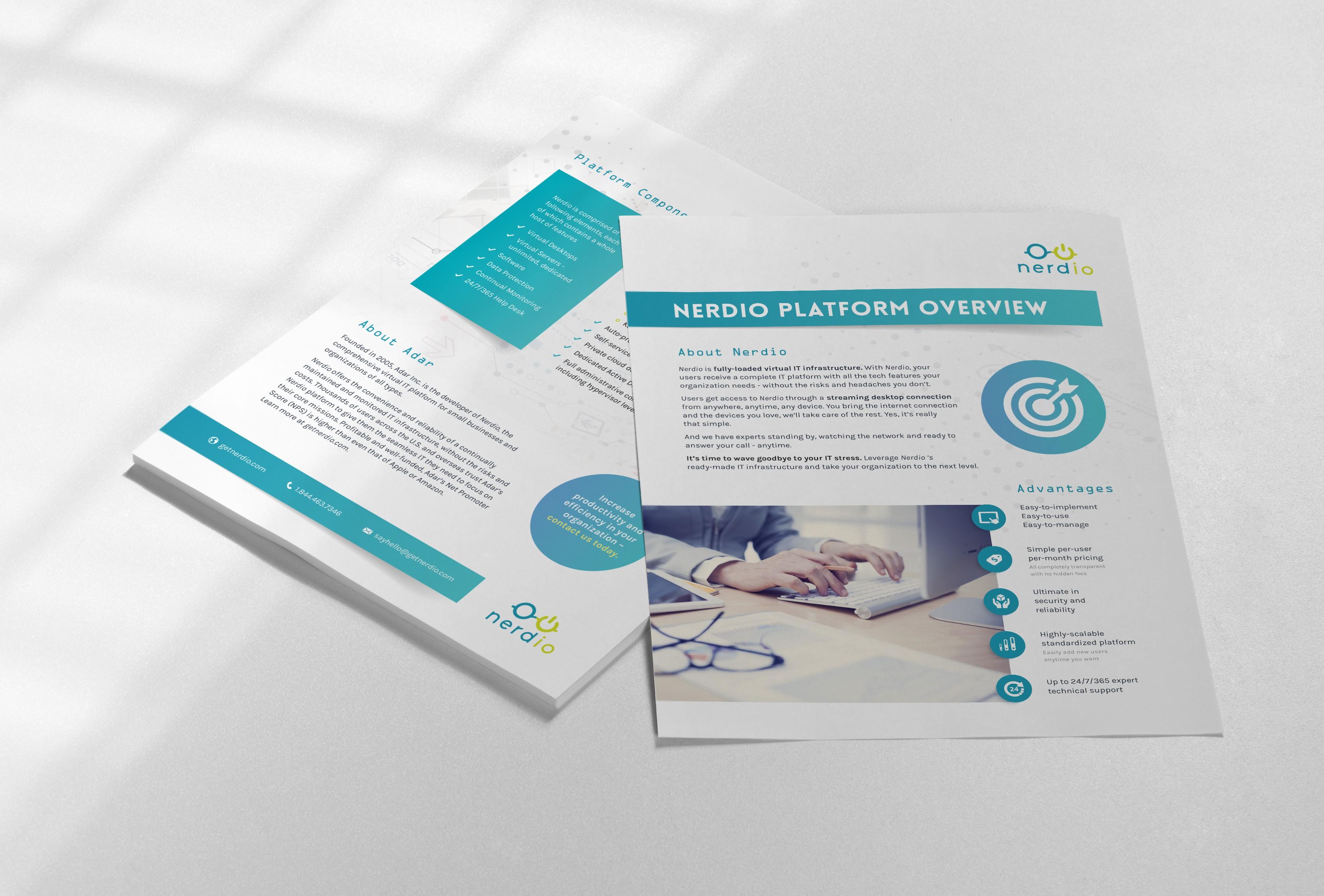 Nerdio Platform overview flyer design