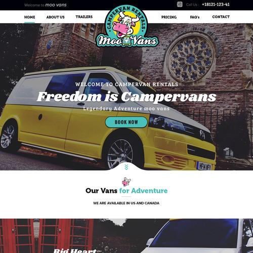 Bold Design for Camper van Services
